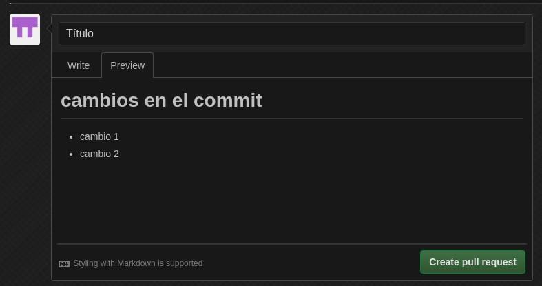 Git cambios en el commit