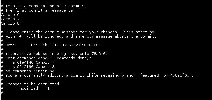 Git modificar commit